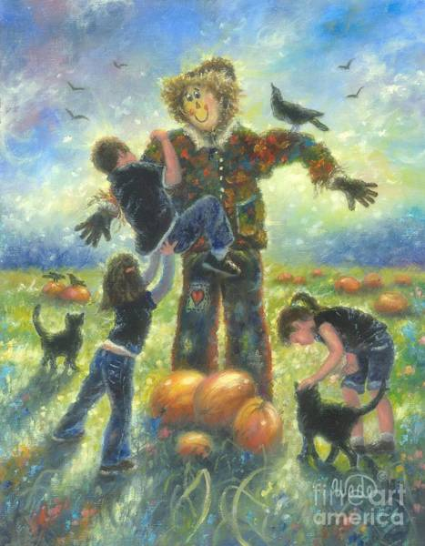 Wall Art - Painting - Pumpkin Patch Helping Hands by Vickie Wade