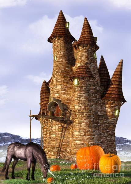 Digital Art - Pumpkin Patch Unicorn by Elle Arden Walby