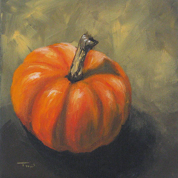 Wall Art - Painting - Pumpkin by Torrie Smiley