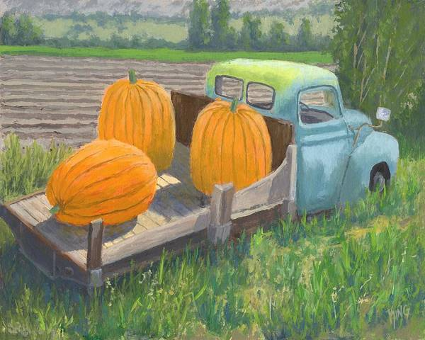 Painting - Pumpkin Truck by David King