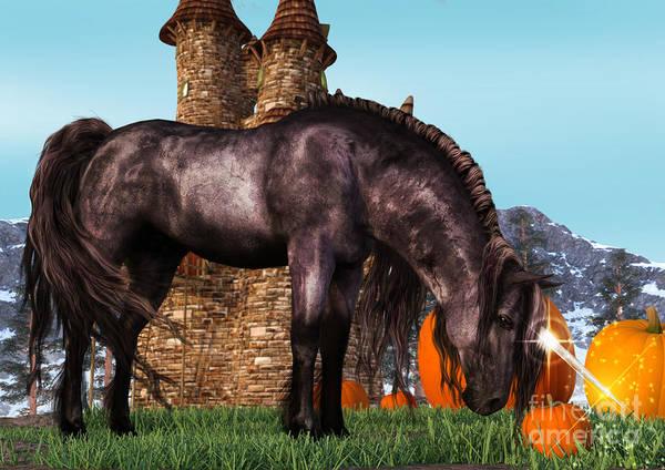Digital Art - Pumpkin Unicorn by Elle Arden Walby