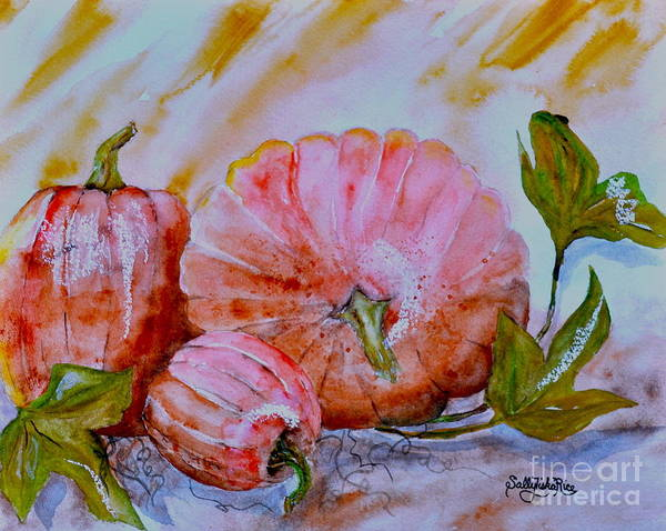 Winter Squash Painting - Pumpkins  by Sally Rice