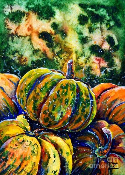 Novelties Painting - Pumpkins  by Zaira Dzhaubaeva