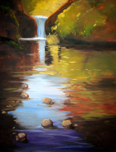 Wall Art - Painting - Punch Bowl Reflection by Nancy Merkle