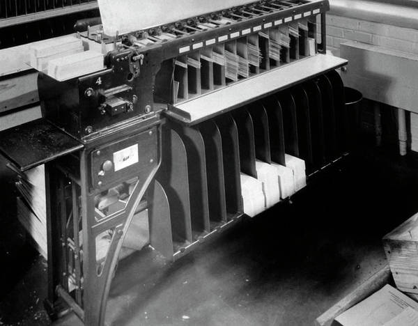 Wall Art - Photograph - Punch Card Sorting For 1930 Us Census by Us Census Bureau/science Photo Library