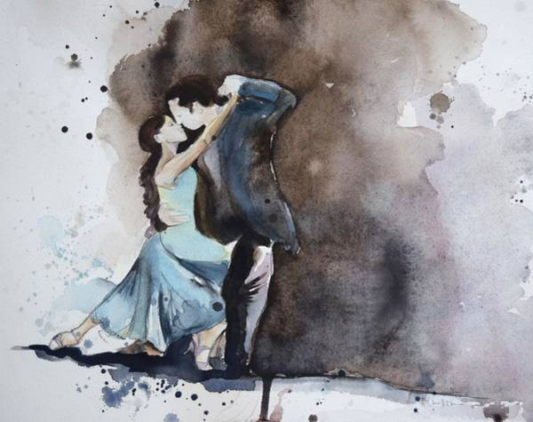 Tango Painting - Punctuation by Lauren Bolshakov