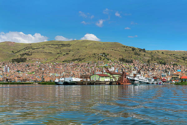 Puno Photograph - Puno Town On Peruvian Shore Of Titicaca by Henn Photography