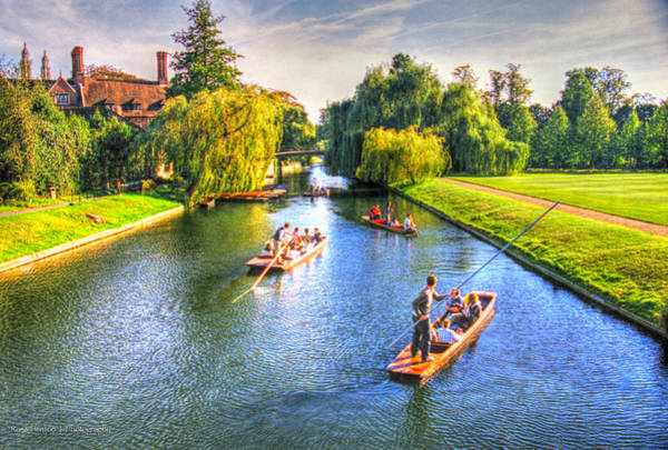 Photograph - Punting In Cambridge by Ross Henton