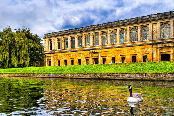 Photograph - Punting On The Cam - Wren Library At Trinity College by Mark Tisdale