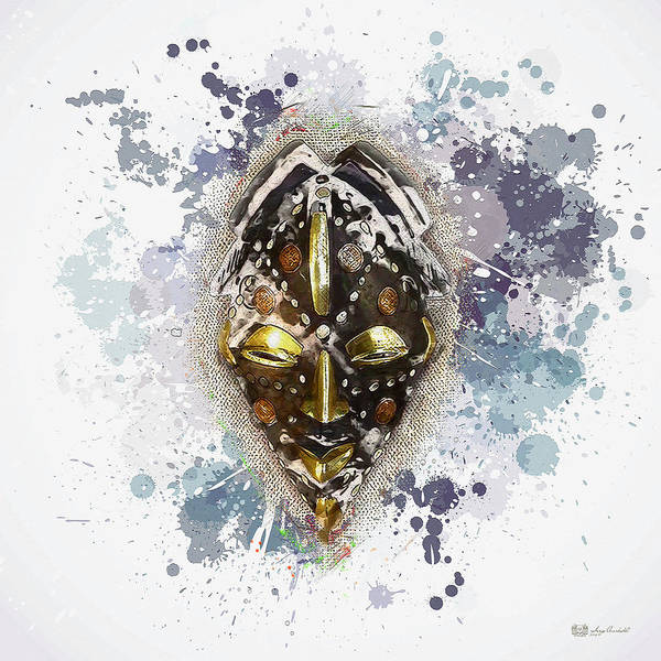 African Tribal Digital Art - Punu Prosperity Mask by Serge Averbukh