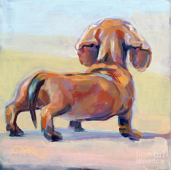 Commission Wall Art - Painting - Puppy Butt by Kimberly Santini