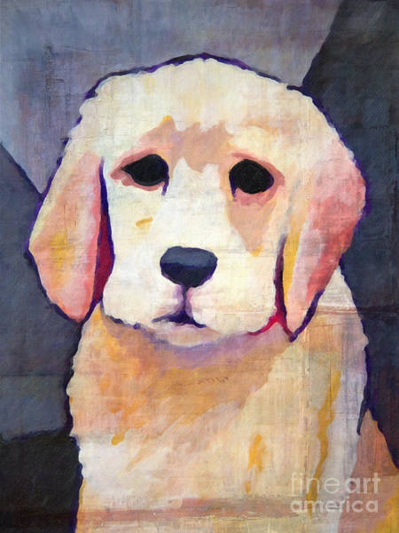 Painting - Puppy Dog by Lutz Baar
