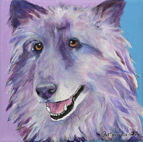 Painting - Puppy Dog by Pat Saunders-White