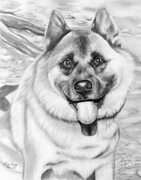 Pup Drawing - Puppy Is His Name by Lena Auxier