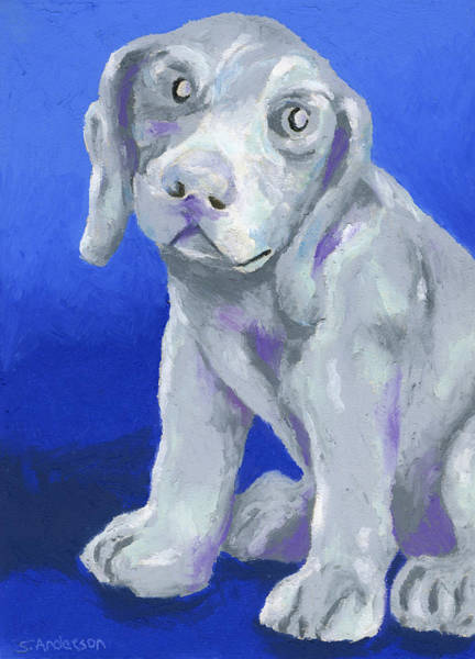 Wall Art - Painting - Puppy Love by Stephen Anderson