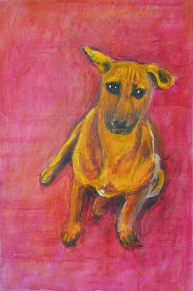 Usha Painting - Puppy Love by Usha Shantharam
