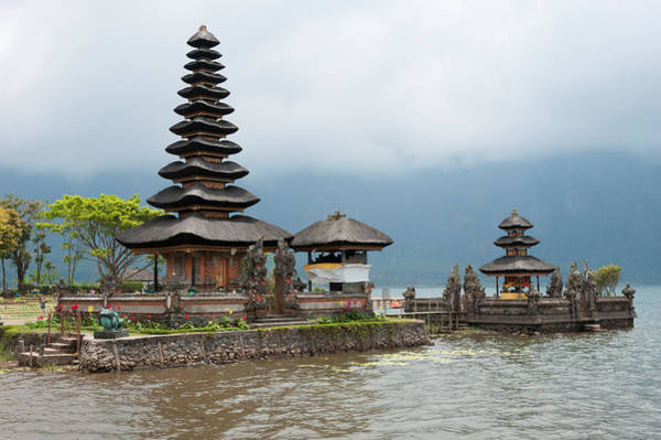 Indonesian Culture Photograph - Pura Ulun Danu Bratan Temple by Panoramic Images