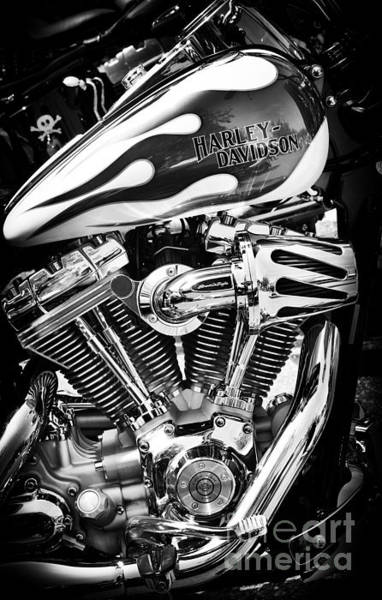 Harley Davidson Black And White Wall Art - Photograph - Pure Harley Chrome by Tim Gainey