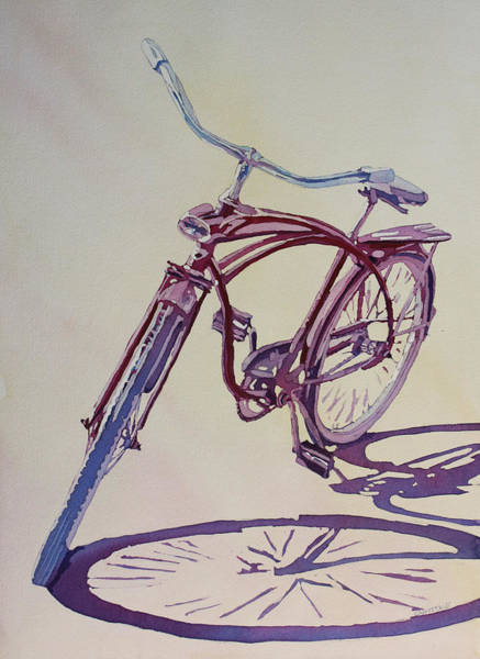 Bicycle Painting - Pure Nostalgia  by Jenny Armitage