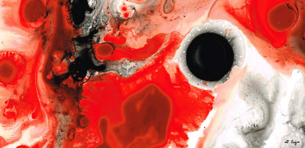 Art For Sale Online Wall Art - Painting - Pure Passion - Red And Black Art Painting by Sharon Cummings