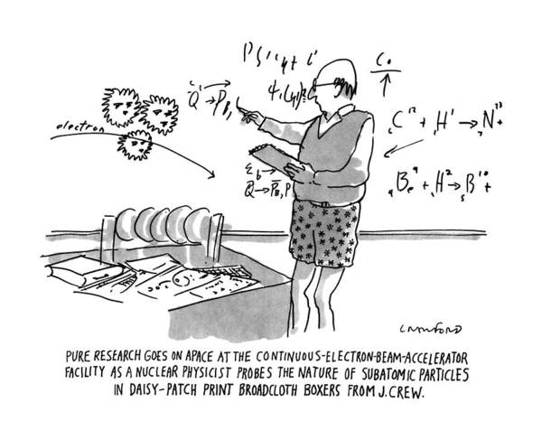 Teacher Drawing - Pure Research Goes On Apace by Michael Crawford