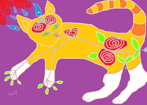 Orange Tabby Drawing - Pure Theo by Anita Dale Livaditis