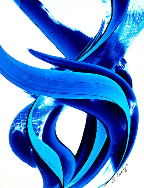 Blue Wave Painting - Pure Water 138 by Sharon Cummings