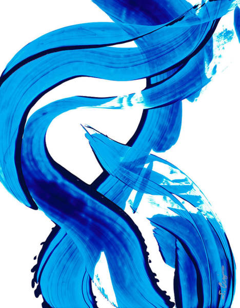 Buy Art Online Painting - Pure Water 302 - Blue Abstract Art By Sharon Cummings by Sharon Cummings