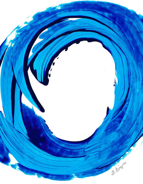 Ready Painting - Pure Water 312 - Blue Abstract Art By Sharon Cummings by Sharon Cummings