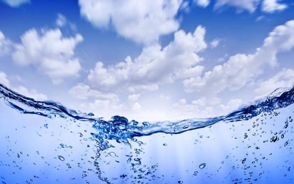 Drops Of Water Wall Art - Photograph - Pure Water by Da-kuk
