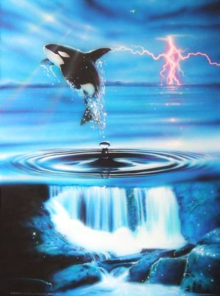 Killer Painting - Pure Water Systems by Christian Chapman Art