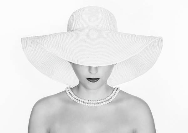 Lady Photograph - Pure White by Pauline Pentony Ba