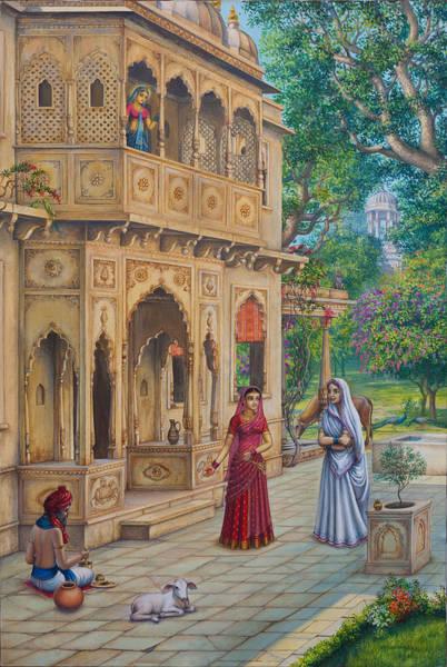 Shree Wall Art - Painting - Purnamasi In House Of Kirtida by Vrindavan Das