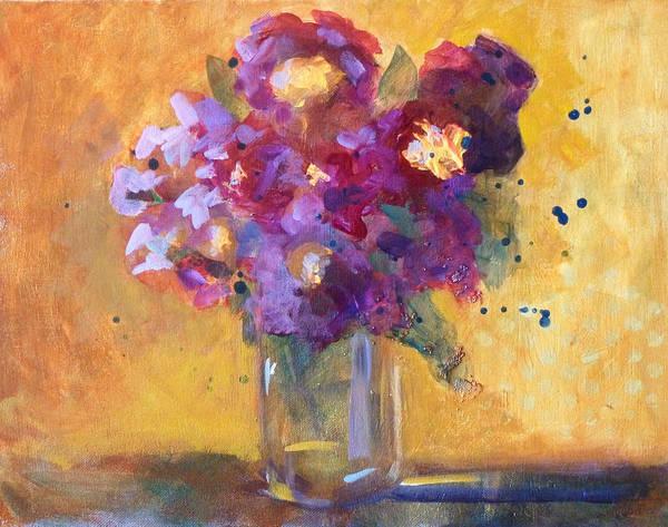 Wall Art - Painting - Purple Abstract by Nancy Merkle