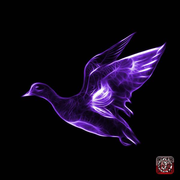 Mixed Media - Purple American Wigeon - 7675 F - Bb by James Ahn
