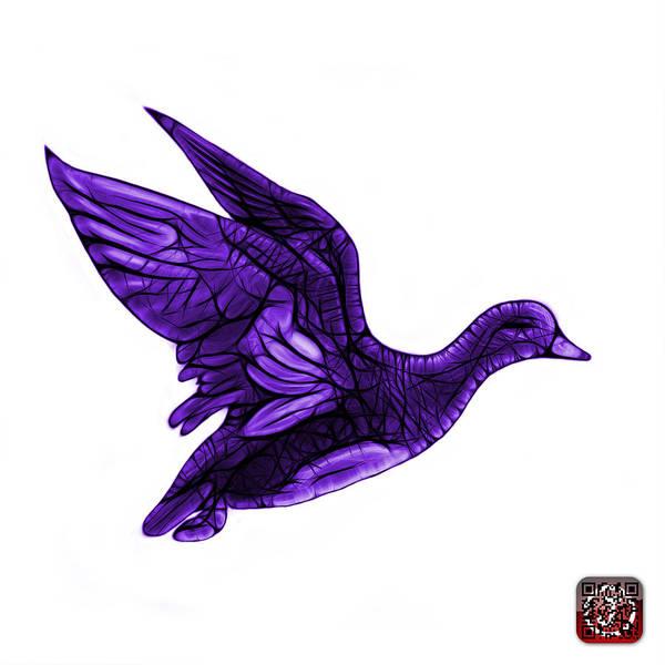 Mixed Media - Purple American Wigeon - 7675 F - Wb by James Ahn