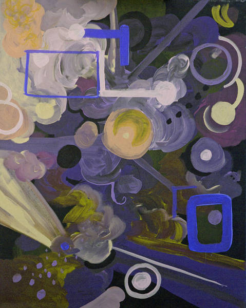 Coolidge Painting - Purple And Blue Abstract 2 by Sara Coolidge