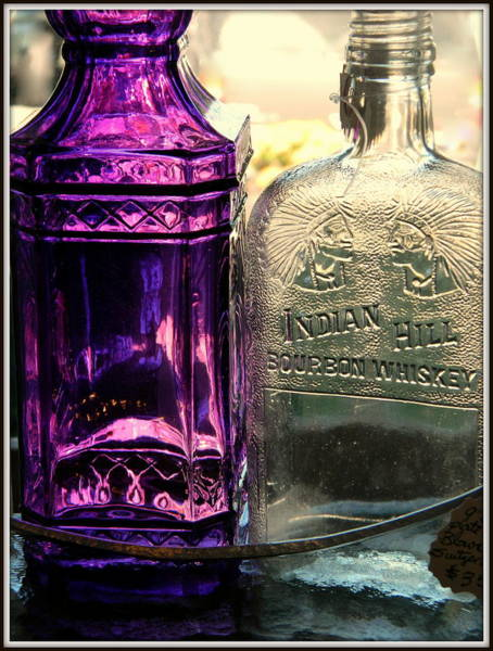 Whiskey Hill Wall Art - Photograph - Purple And Whiskey Jars by Kathy Barney