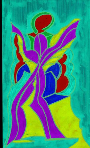 Purple Angel  Art Print by Ken Gidge