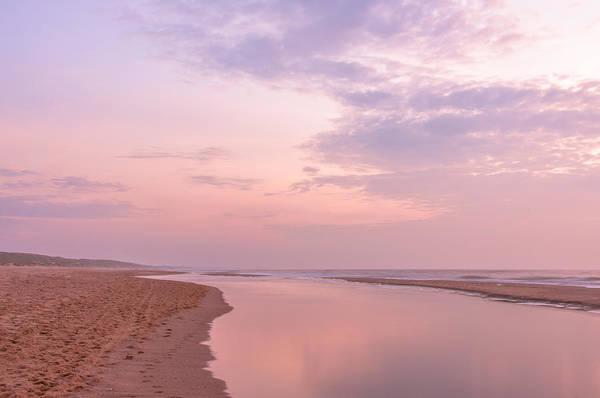 Scheveningen Pier Photograph - Purple Beach by Alex Hiemstra