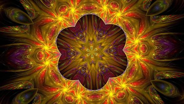 Digital Art - Purple Bliss Kaleidoscope by Barbara A Lane