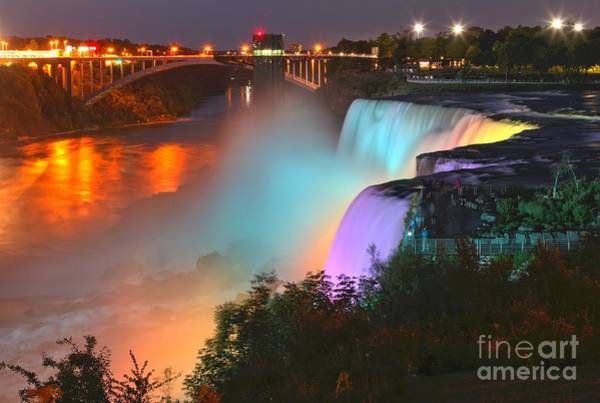 Niagara Falls State Park Photograph - Purple Blue And Yellow At American by Adam Jewell