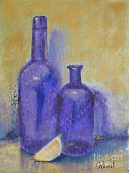 Wall Art - Painting - Purple Bottle by Patricia Caldwell