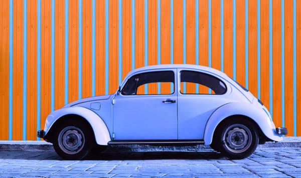 Vw Bug Photograph - Purple Bug by Laura Fasulo