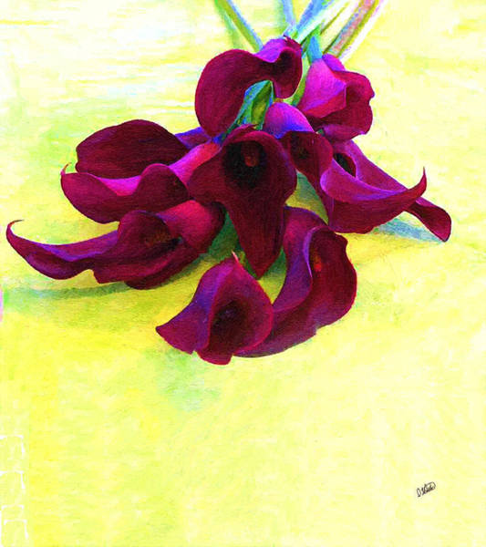 Painting - Purple Calla Lillies by Dean Wittle