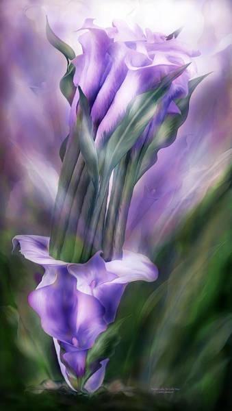 Mixed Media - Purple Callas In Calla Vase by Carol Cavalaris