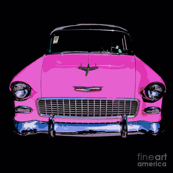 Car Show Photograph - Purple Chevy Pop Art by Edward Fielding
