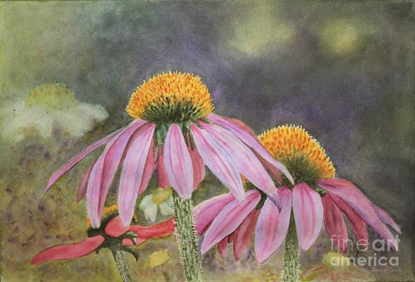 Coneflower Painting - Purple Coneflowers by Sari Sauls