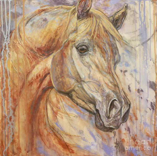Horse Painting - Purple Dawn Arabian by Silvana Gabudean Dobre