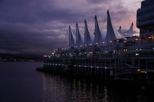 Oceanfront Photograph - Purple Dawn In Vancouver  by Georgia Mizuleva